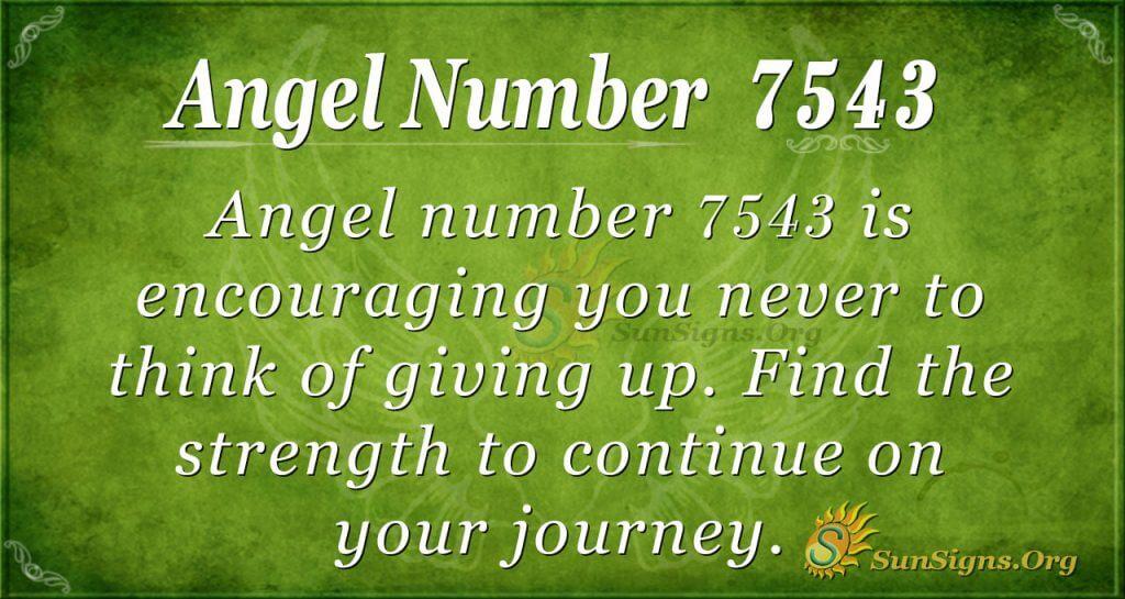 Angel number 7543