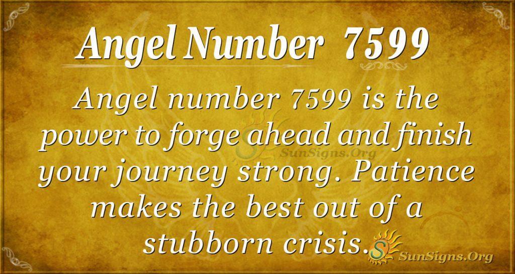 angel number 7599