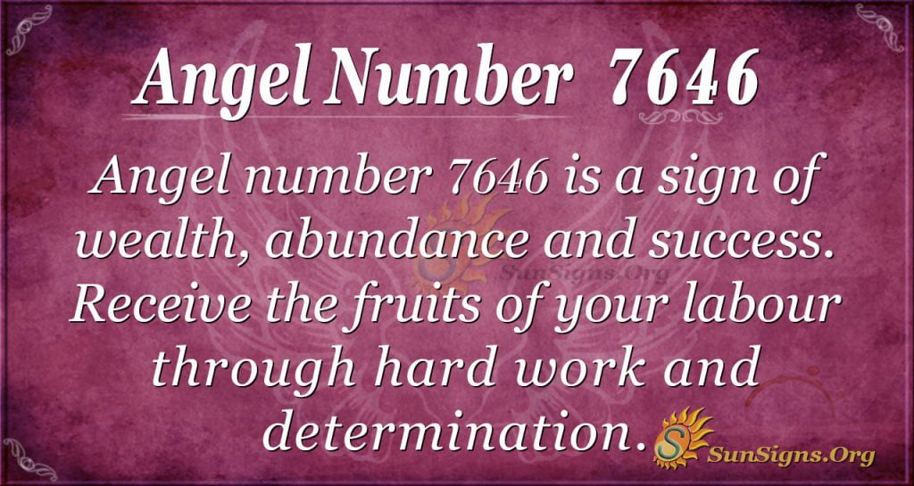 Angel number 7646