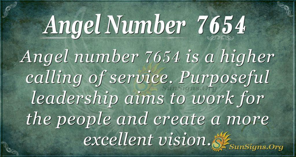 angel number 7654