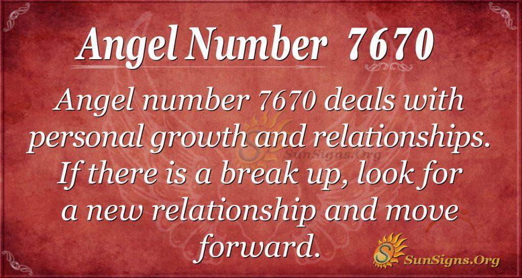 angel number 7670