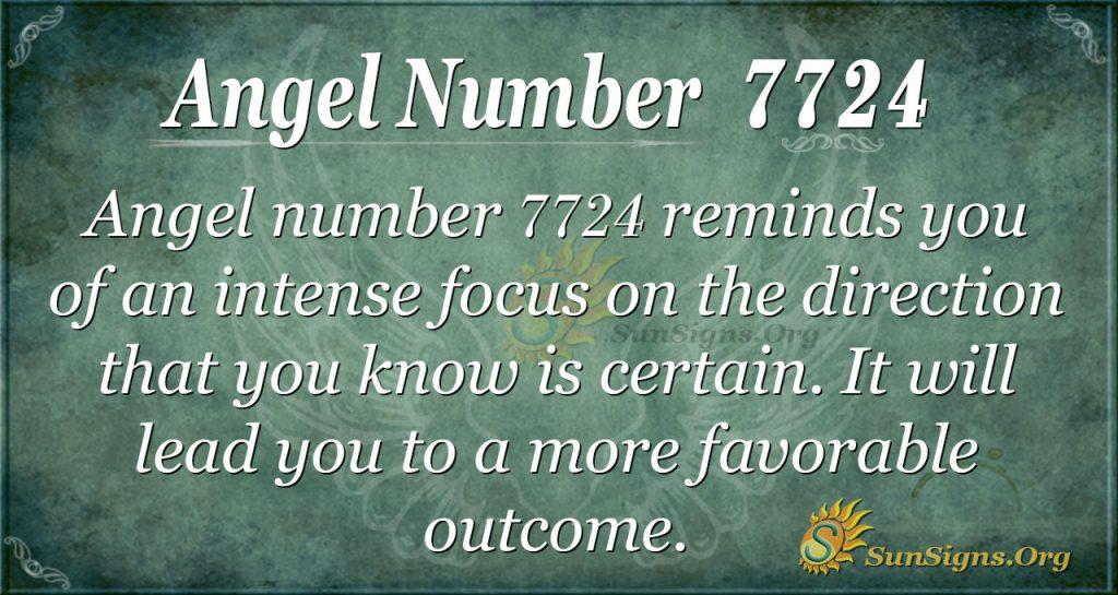 angel number 7724
