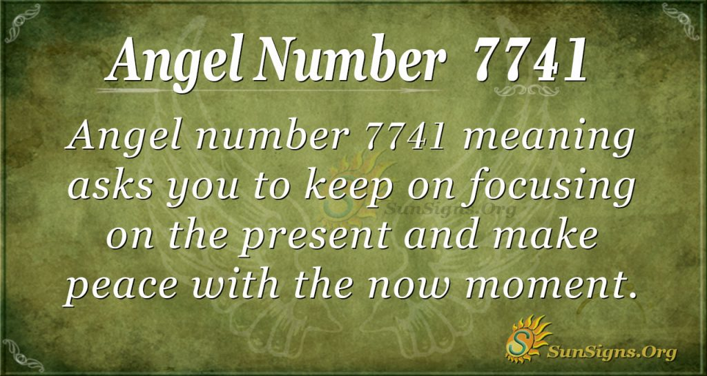 Angel number 7741