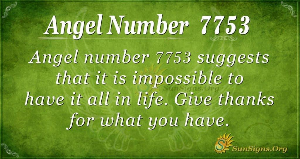 Angel number 7753