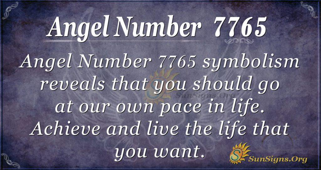 Angel number 7765