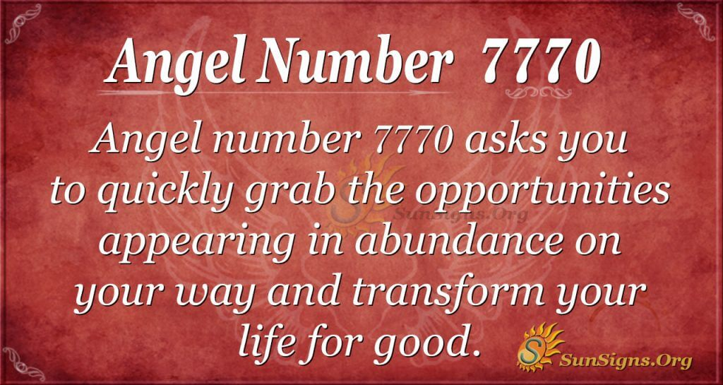angel number 7770