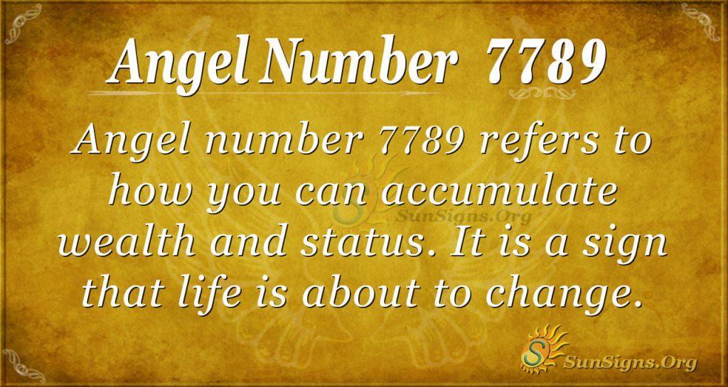 angel number 7789