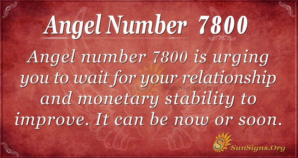 angel number 7800