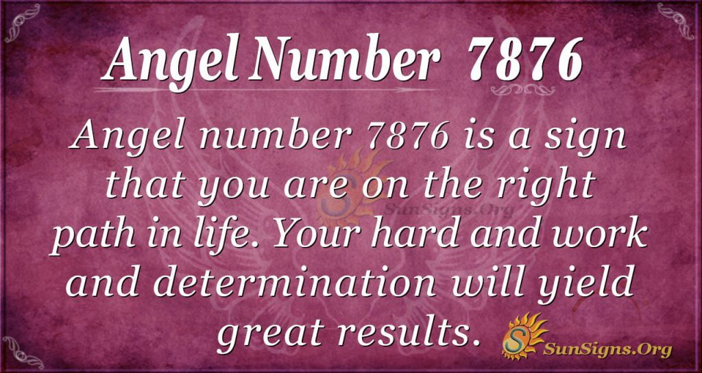 Angel number 7876