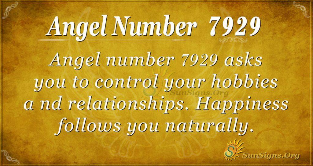 angel number 7929
