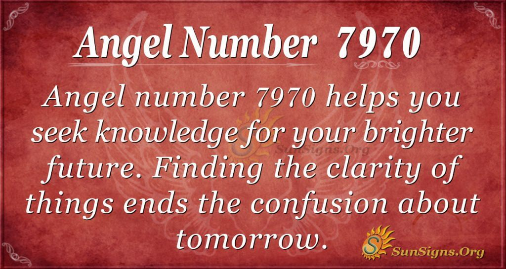 angel number 7970