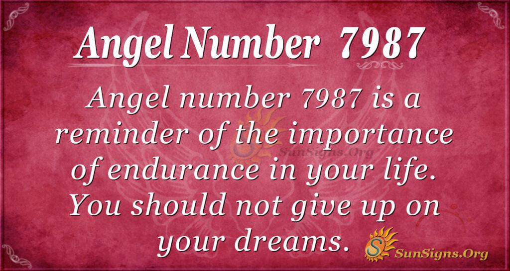 Angel number 7987