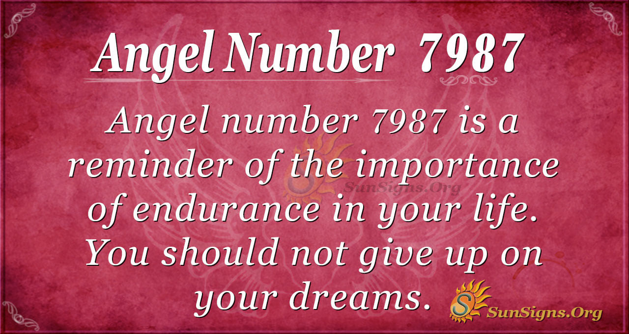 Angel Number 7987 Meaning