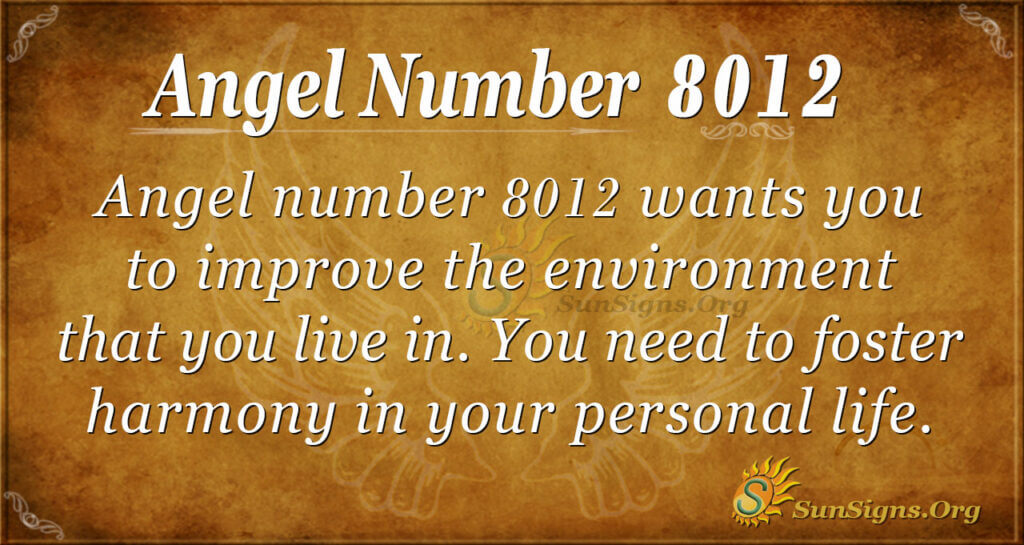 Angel number 8012