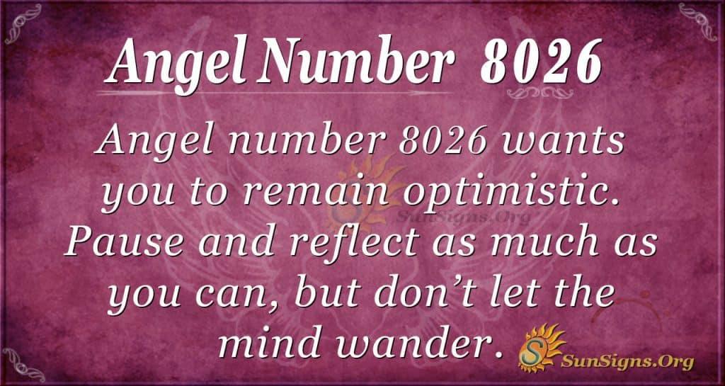 Angel number 8026