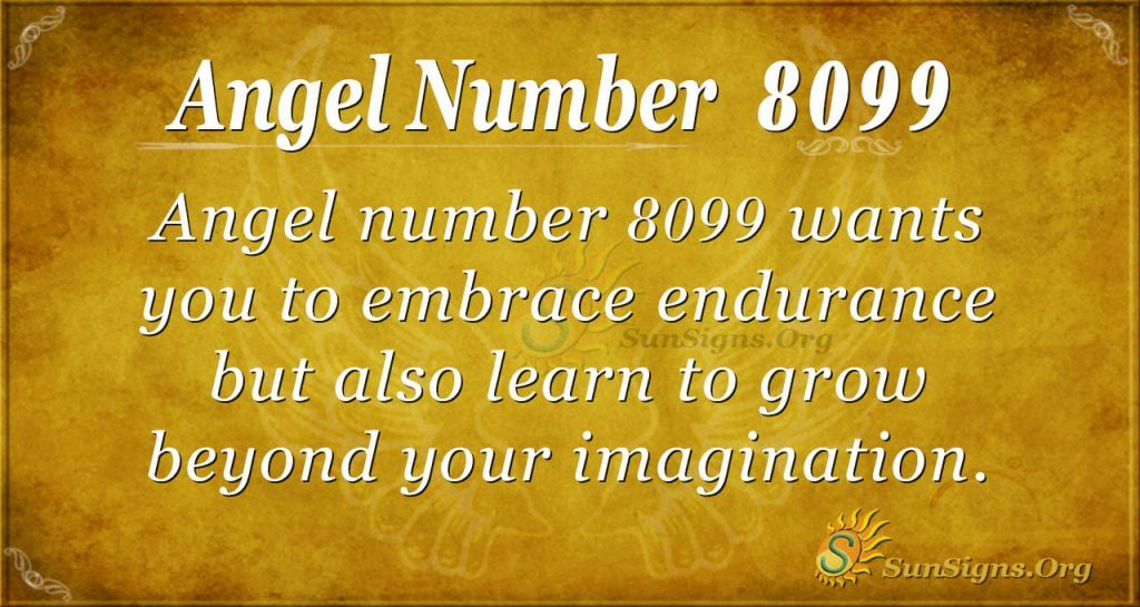 angel number 8099