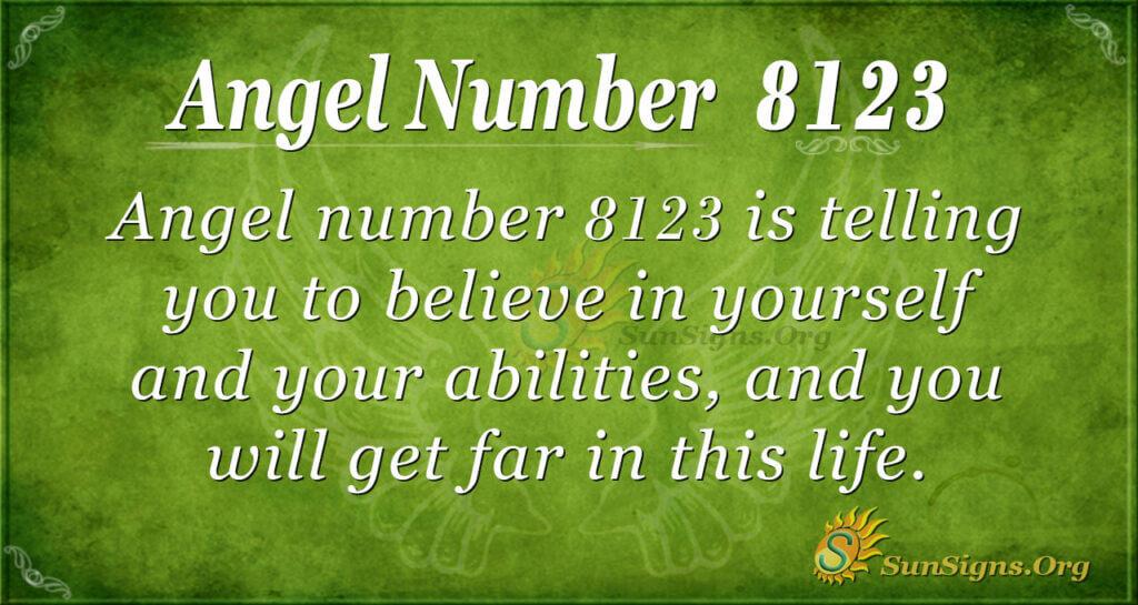 Angel number 8123