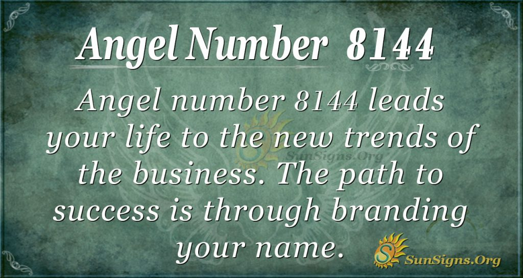 Angel number 8144
