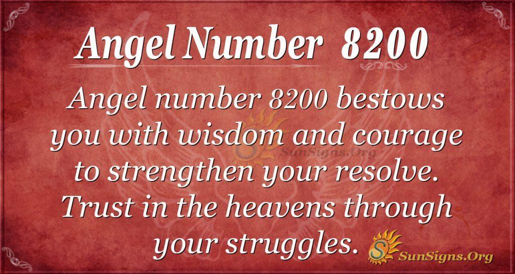Angel number 8200