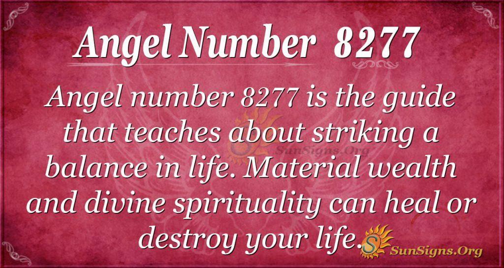 Angel number 8277