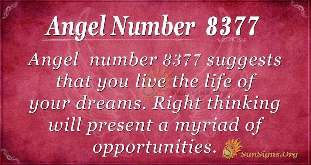 Angel number 8377