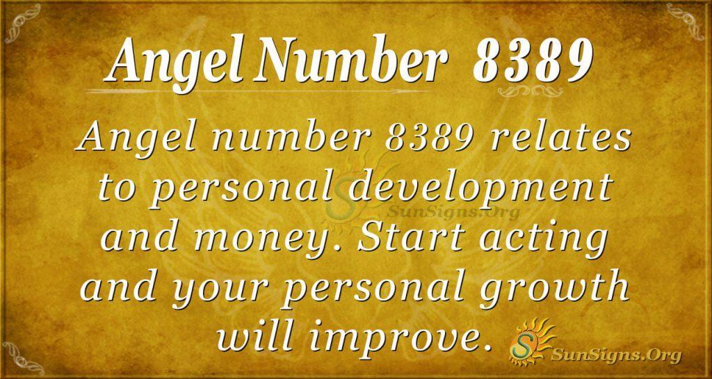 Angel number 8389