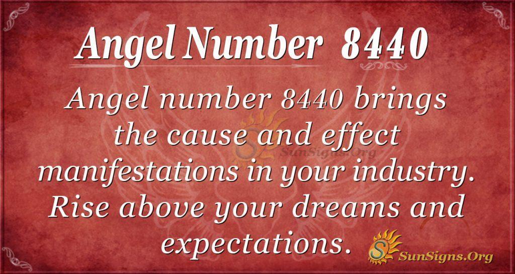 Angel number 8440