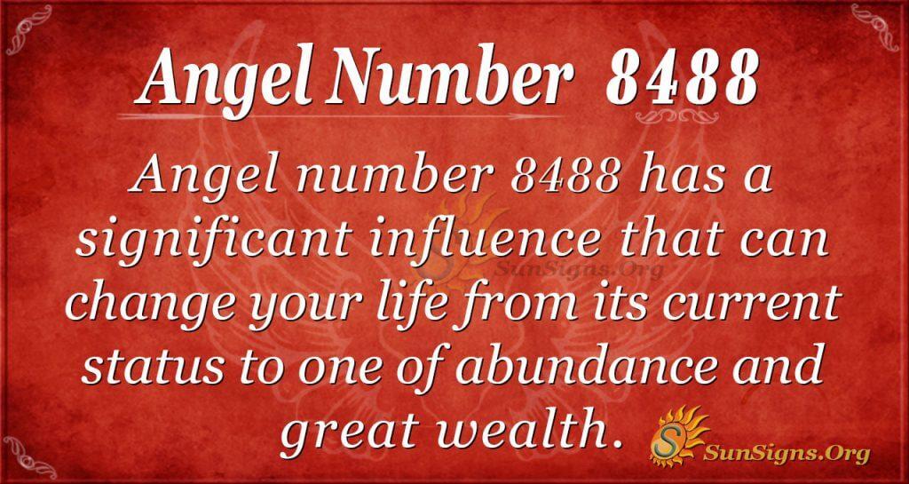 angel number 8488