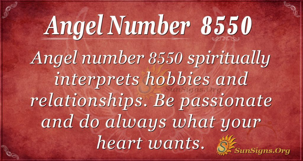 Angel number 8550