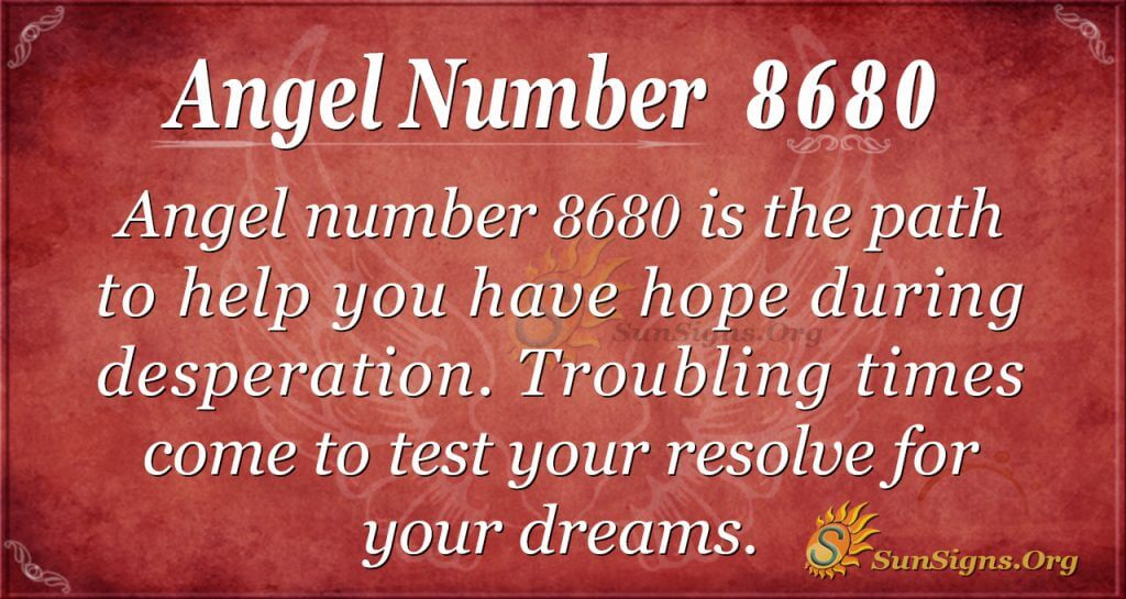 Angel number 8680
