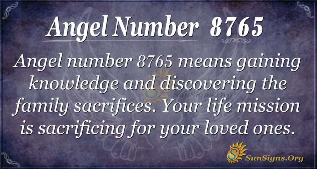 Angel number 8765