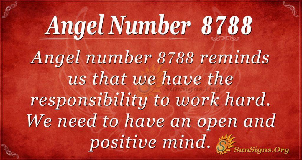 angel number 8788