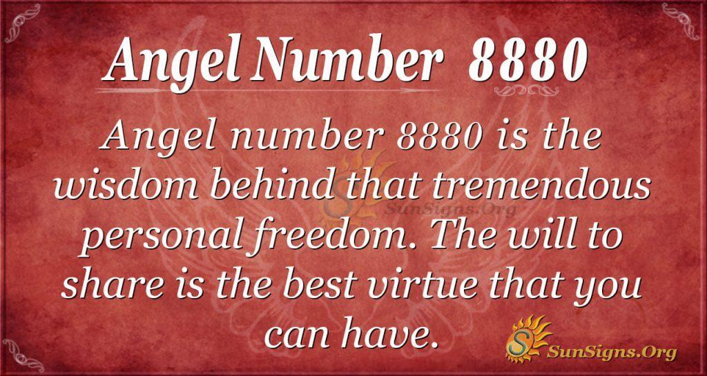 Angel number 8880