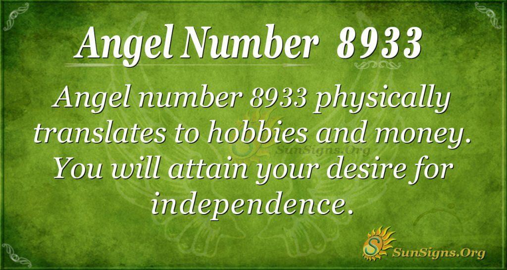 angel number 8933
