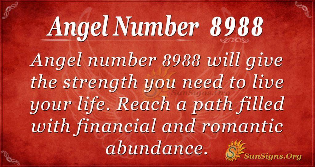 angel number 8988