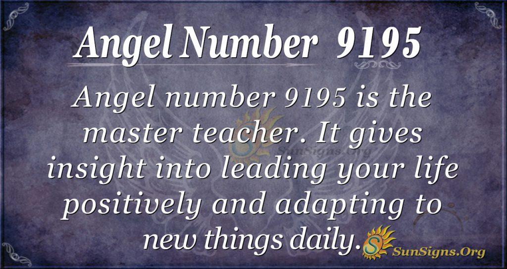 angel number 9195