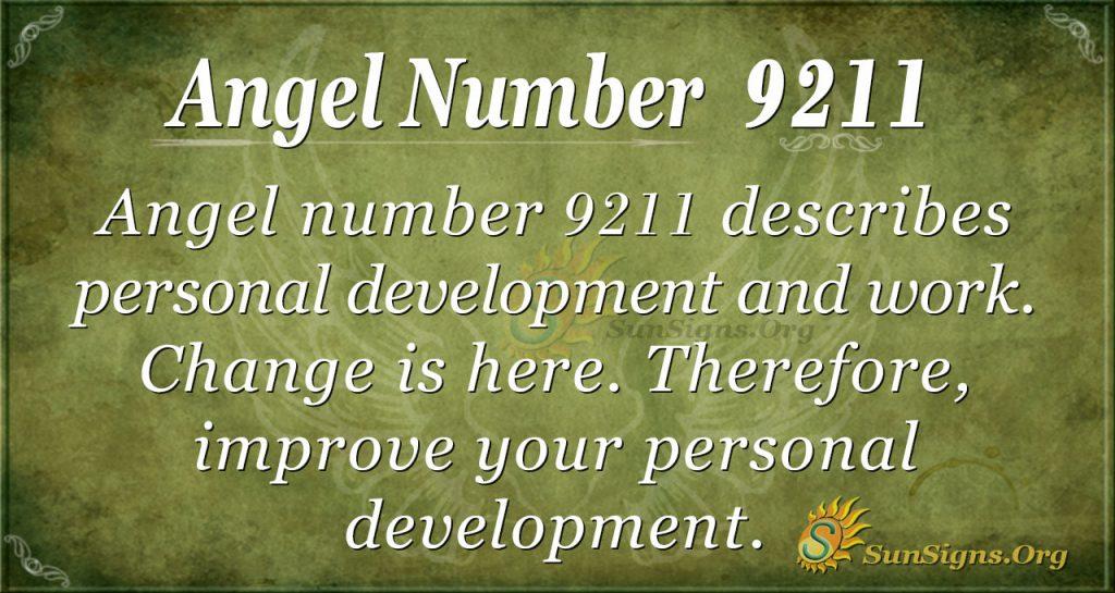 angel number 9211
