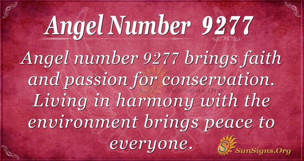angel number 9277