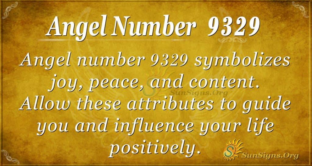 Angel number 9329