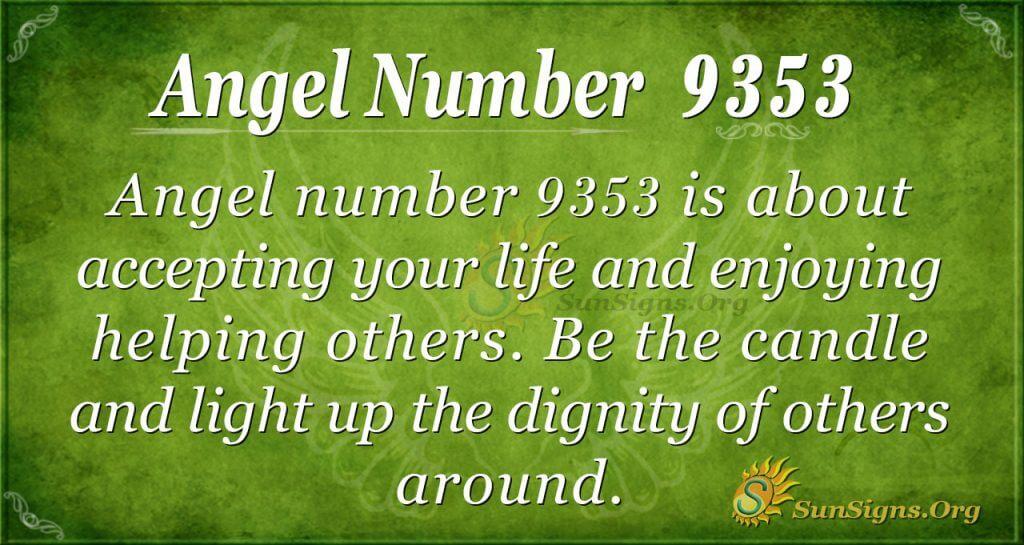 angel number 9353