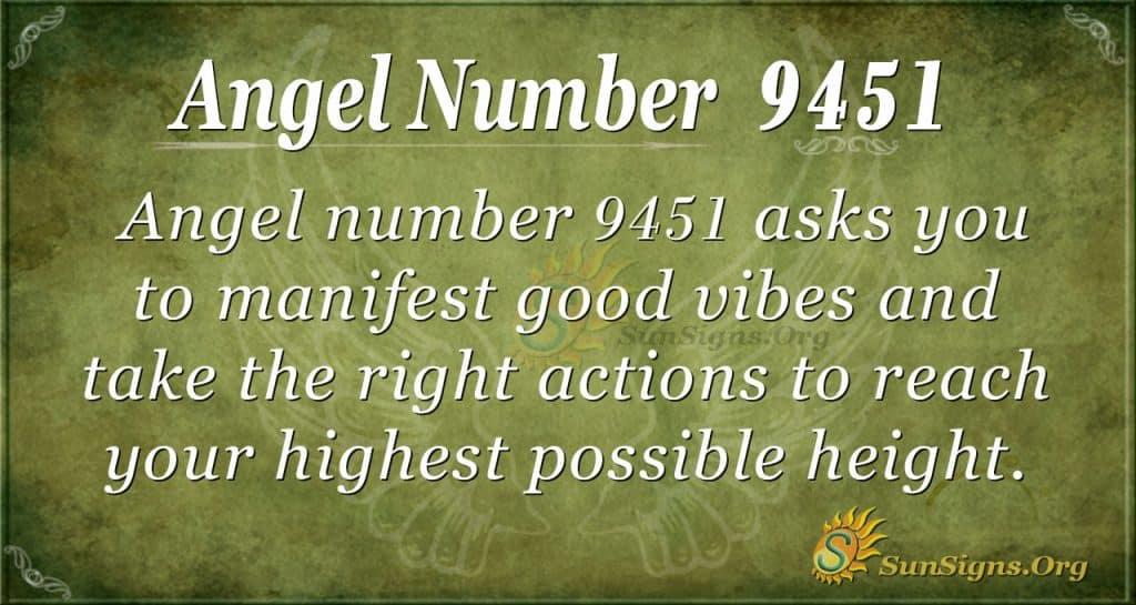 Angel number 9451