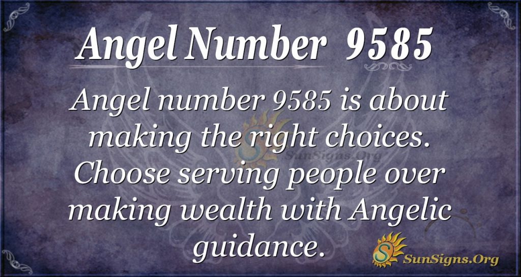 Angel number 9585