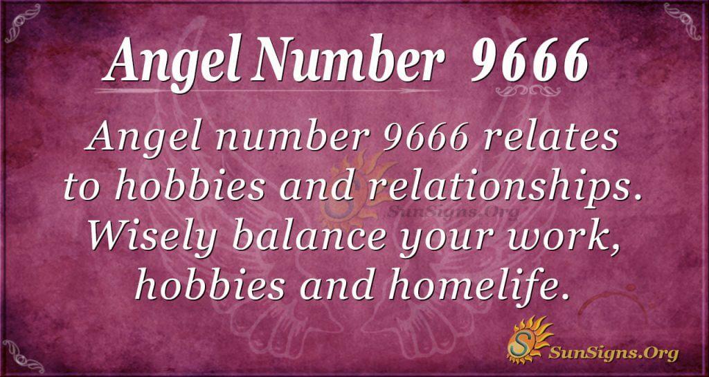angel number 9666