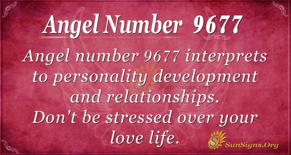 angel number 9677