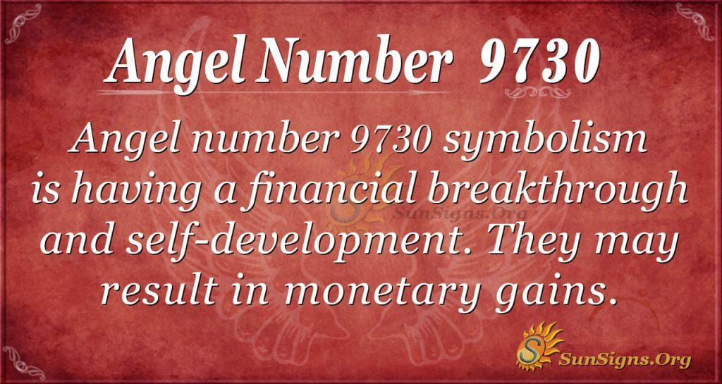 Angel number 9730
