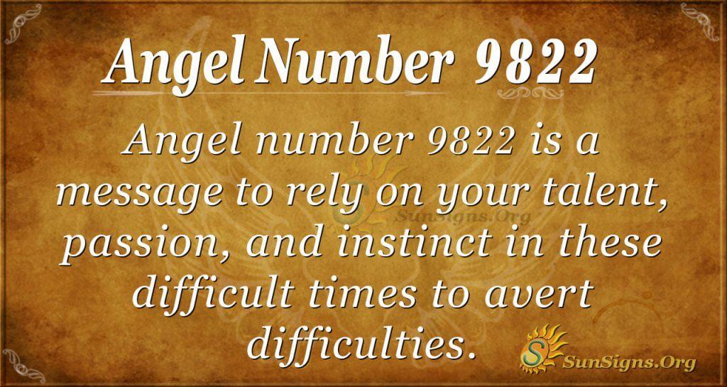 Angel number 9822
