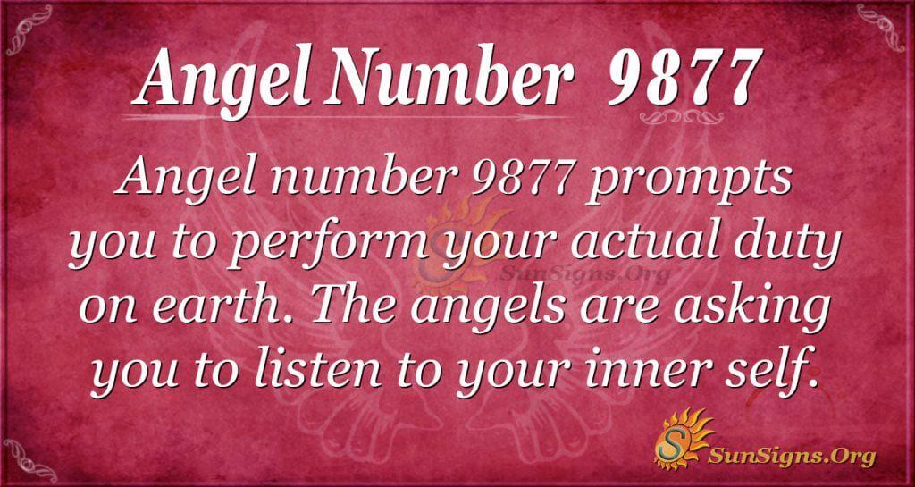 Angel number 9877