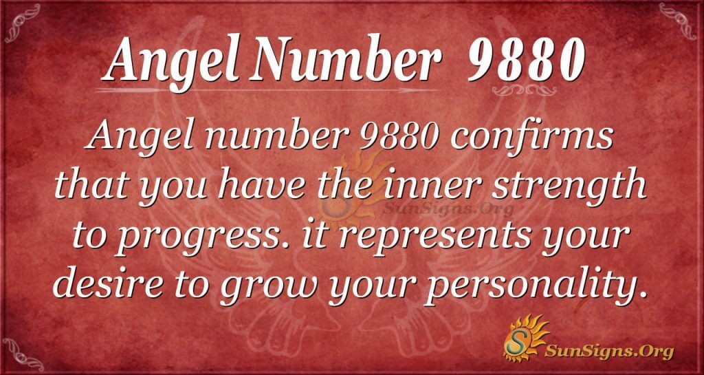 angel number 9880