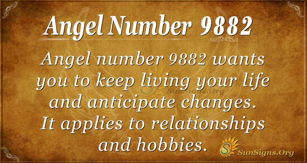 Angel number9882
