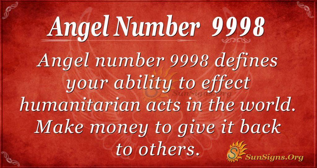 angel number 9998